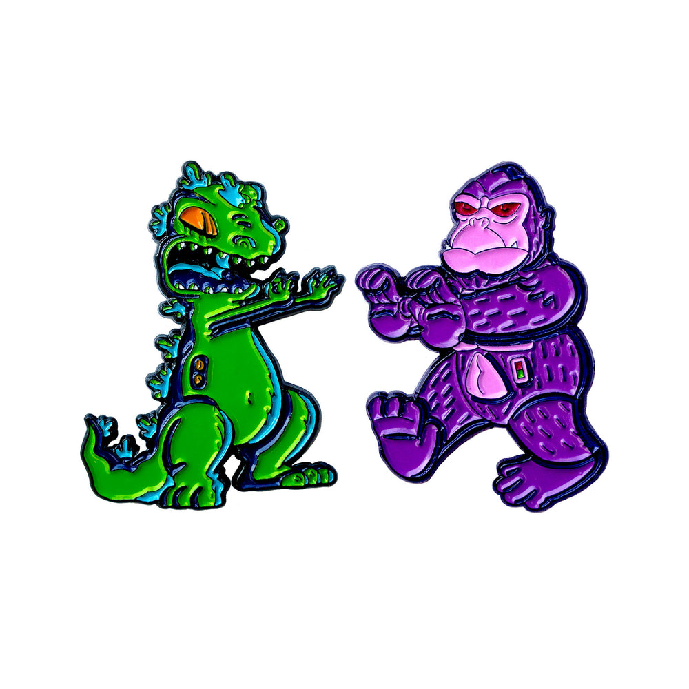 Reptar vs Thorg - Enamel Pins - Midnight Dogs