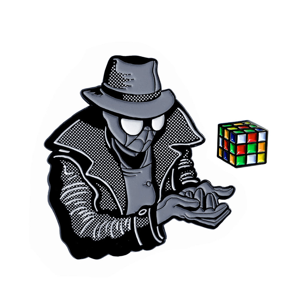 Spider-Man Noir (Spider-Verse Variant) - Enamel Pin - Midnight Dogs