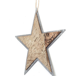 Christmas Ornament - Birch Star 10