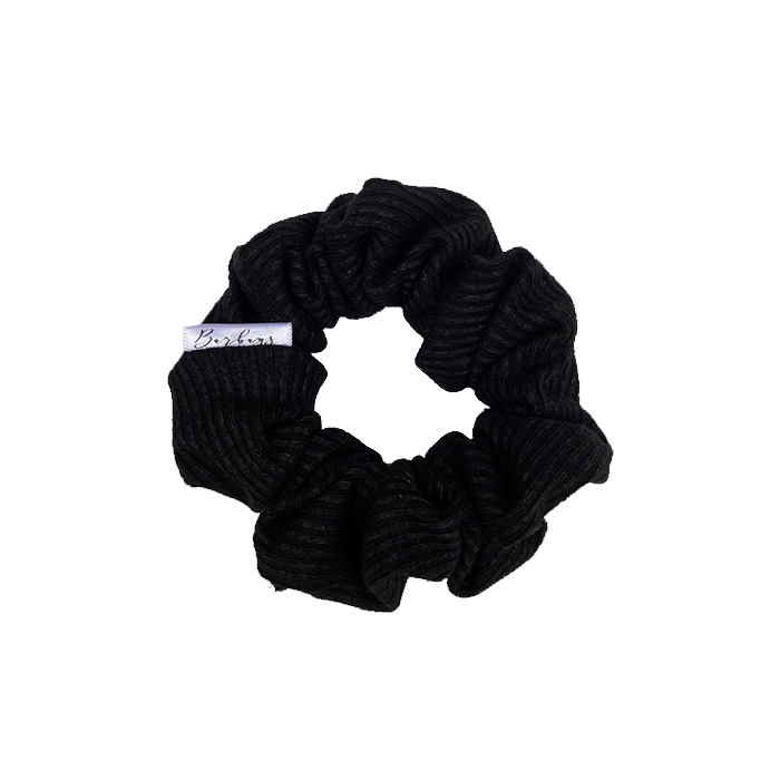 Scrunchie (Petite) - Black Rib Knit