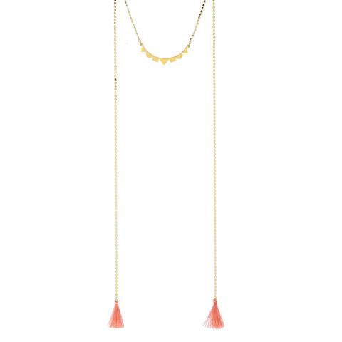 Foxy Lanai Tassel Necklace in Gold