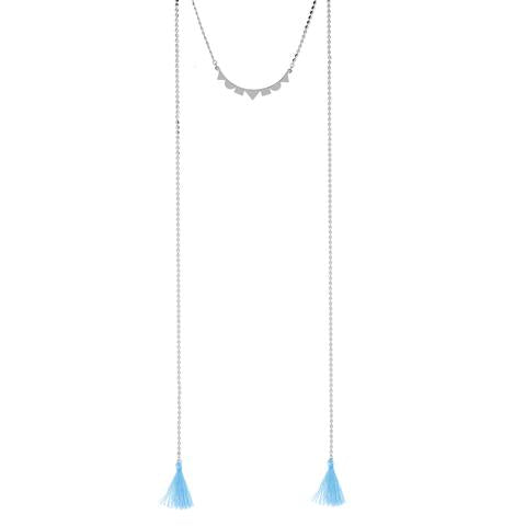 Foxy Lanai Tassel Necklace in Silver