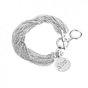 Foxy Shine Toggle Bracelet In Silver