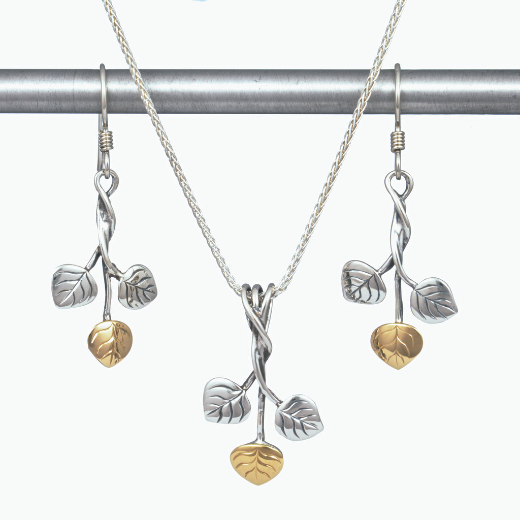 Three Leaf Aspen Earrings