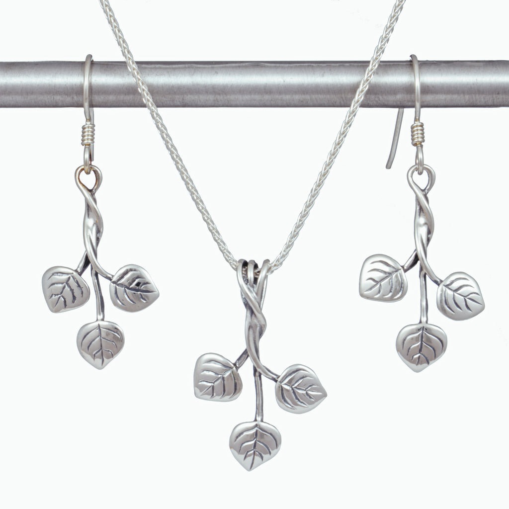 Three Leaf Aspen Pendant