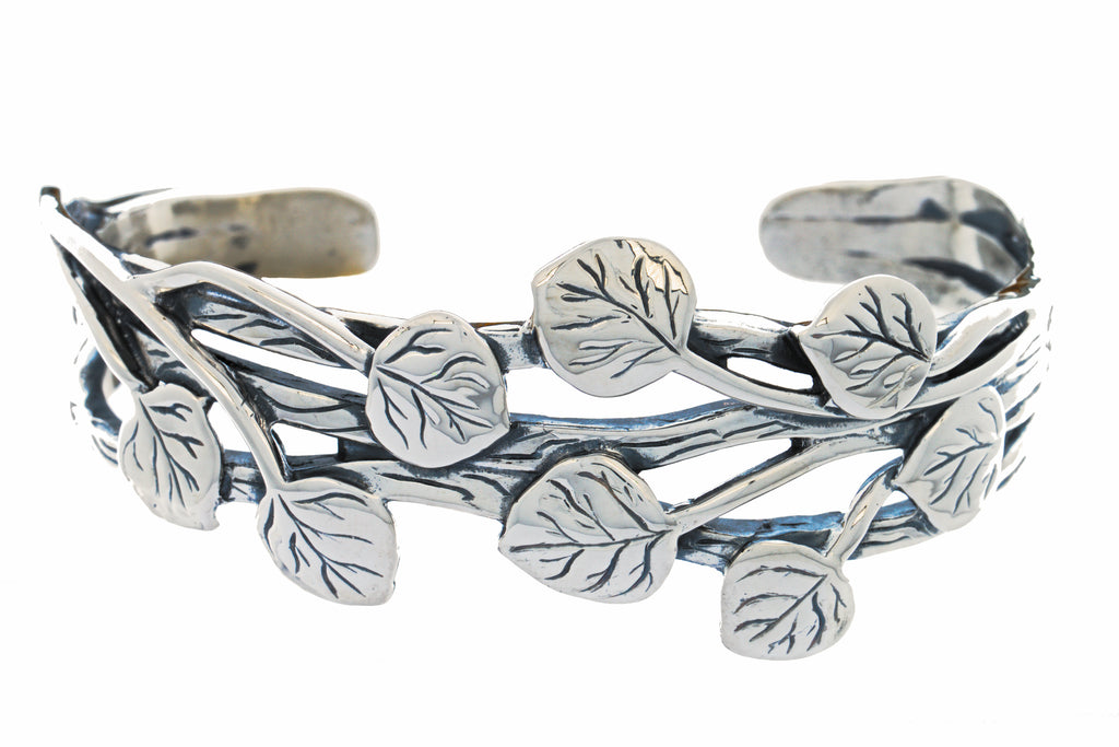 Aspen Collection Branch Cuff Bracelet Sterling Silver