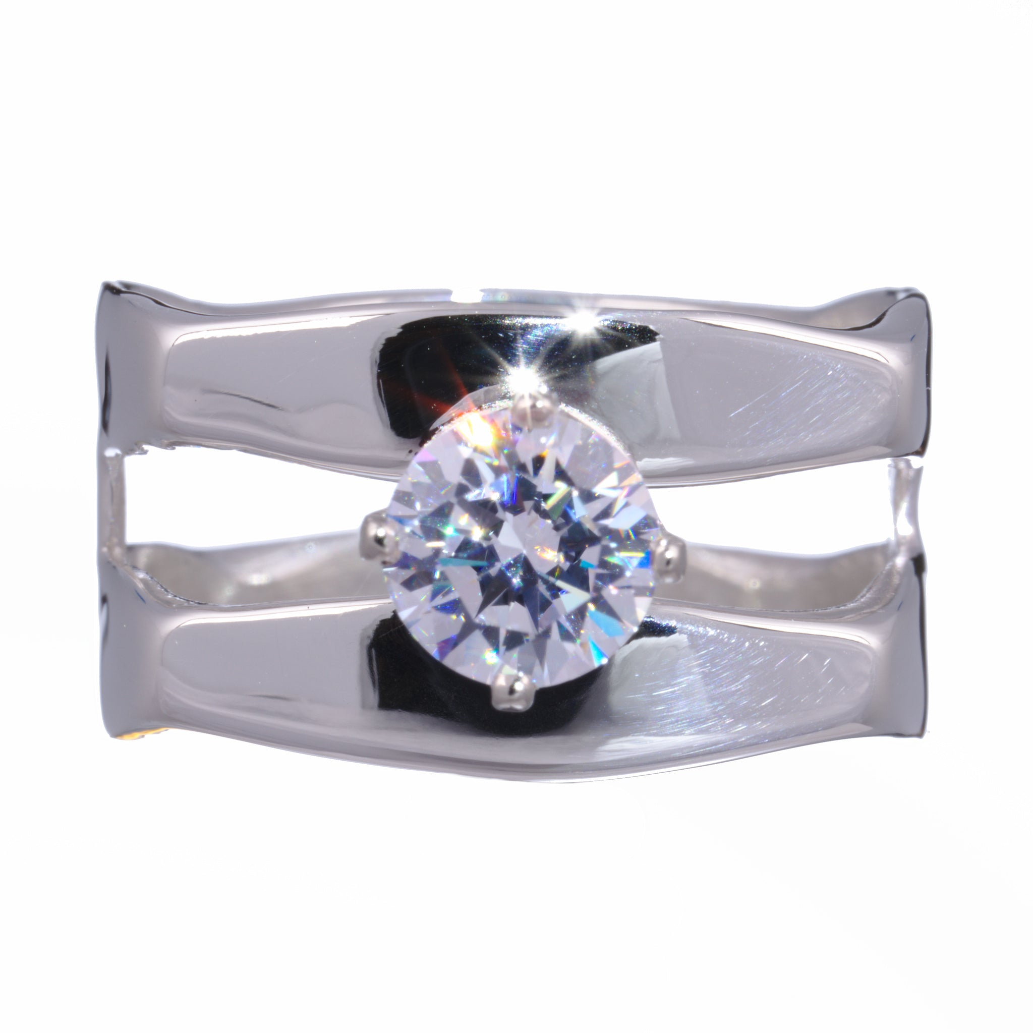 Double Square Ring with Birthstone
