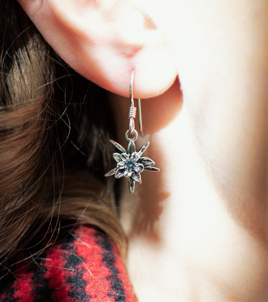 Columbine Birthstone Drop Earrings