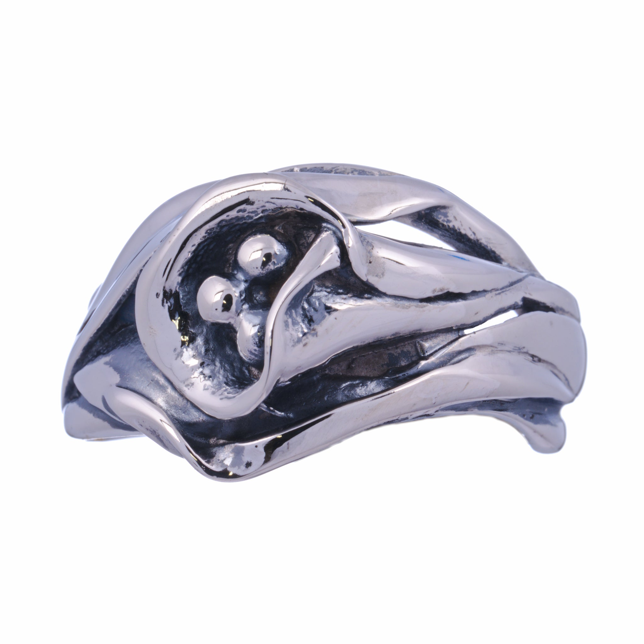 floral collection calla lily ring sterling silver