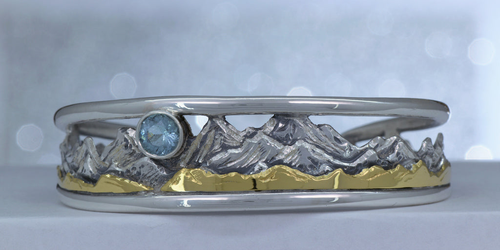 Heart of Colorado Tapered Mountain Cuff