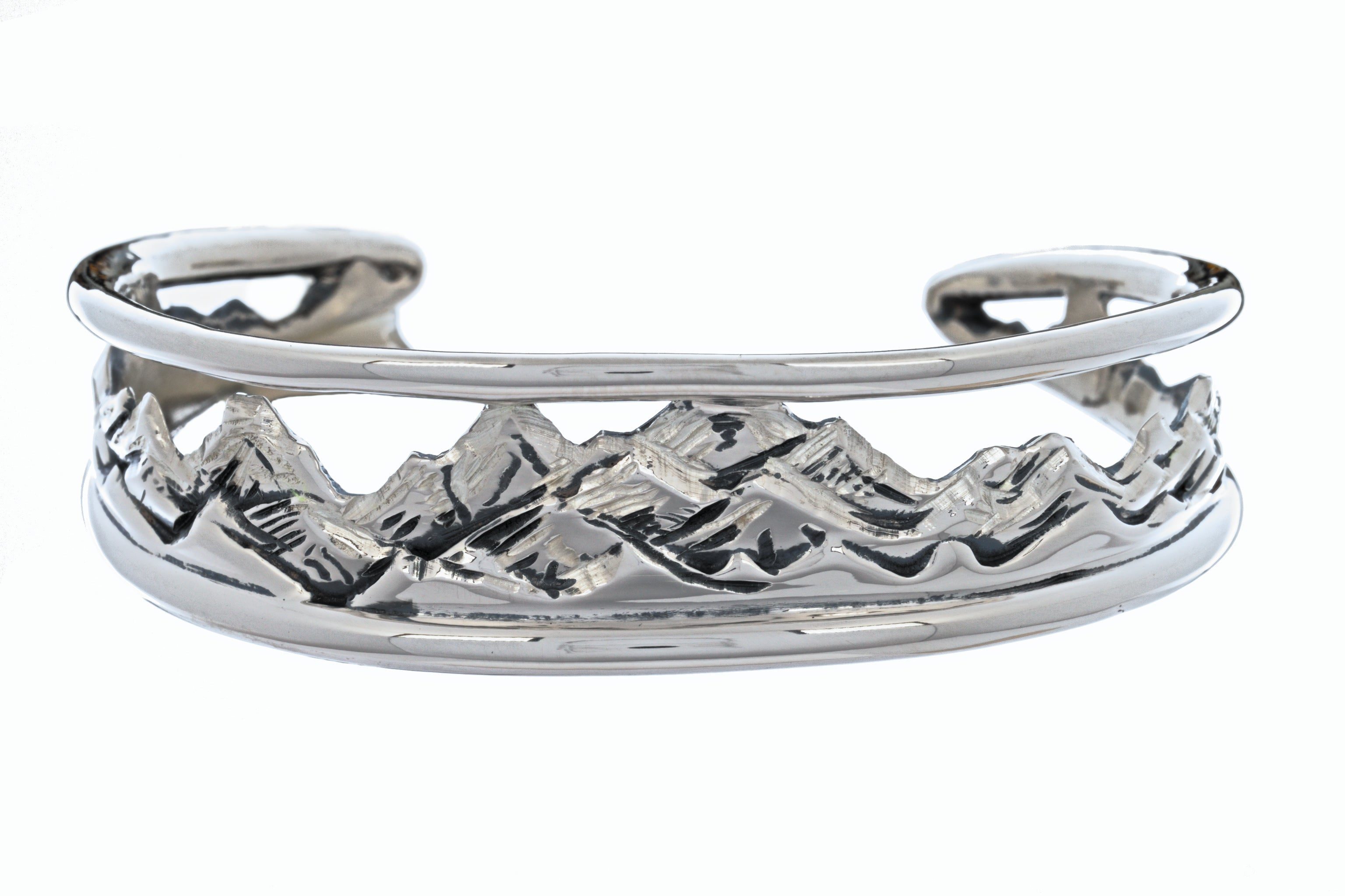 Tapered Mountain Cuff Bracelet