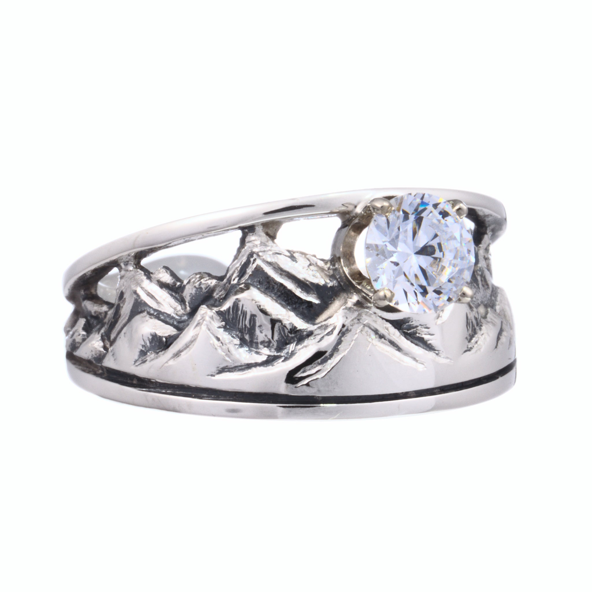 Tapered Mountain Engagement Ring
