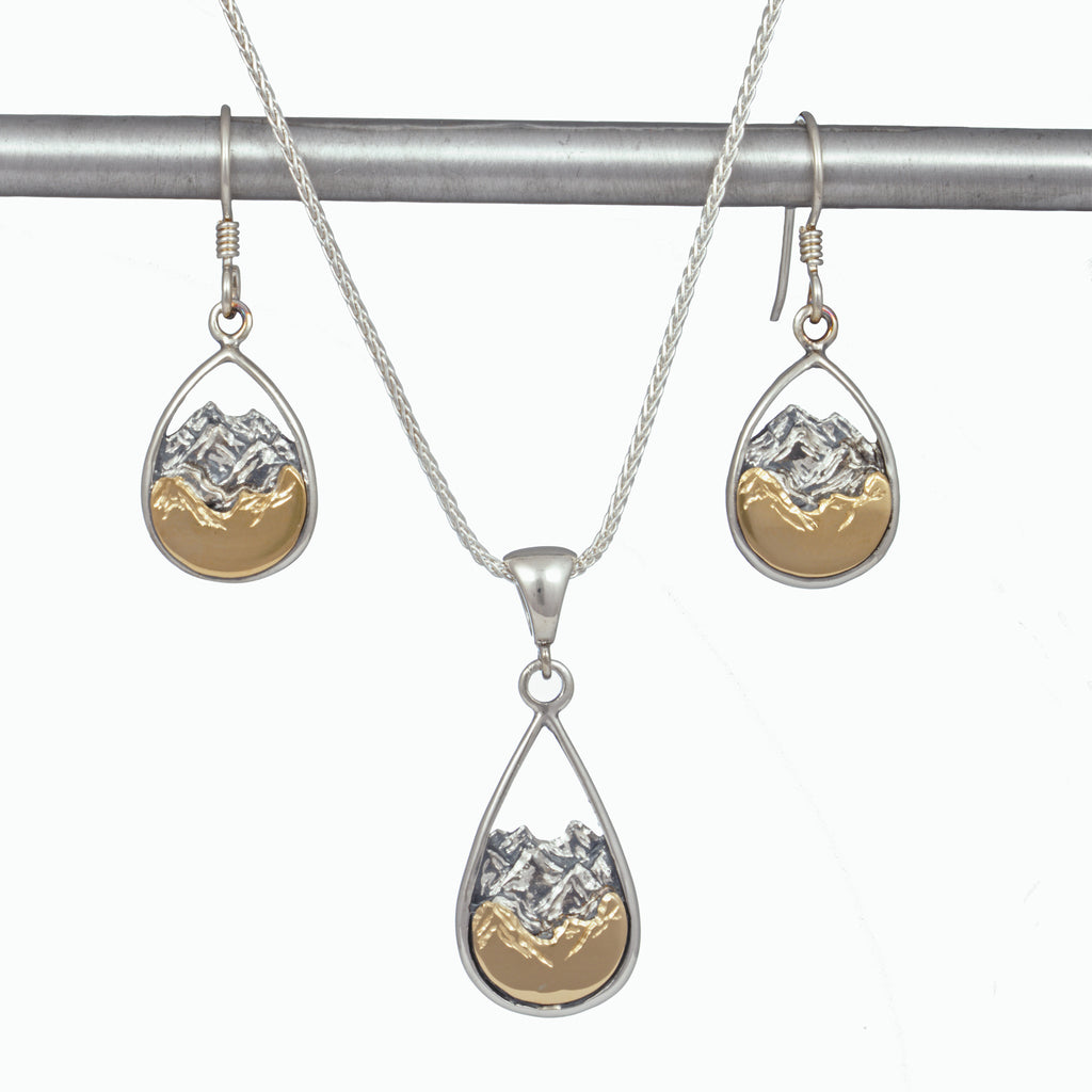 Mountain Teardrop Earrings