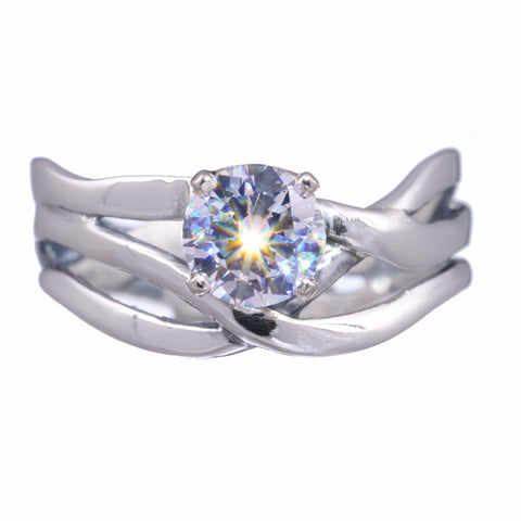 Women's Three Branch Ring with Birthstone