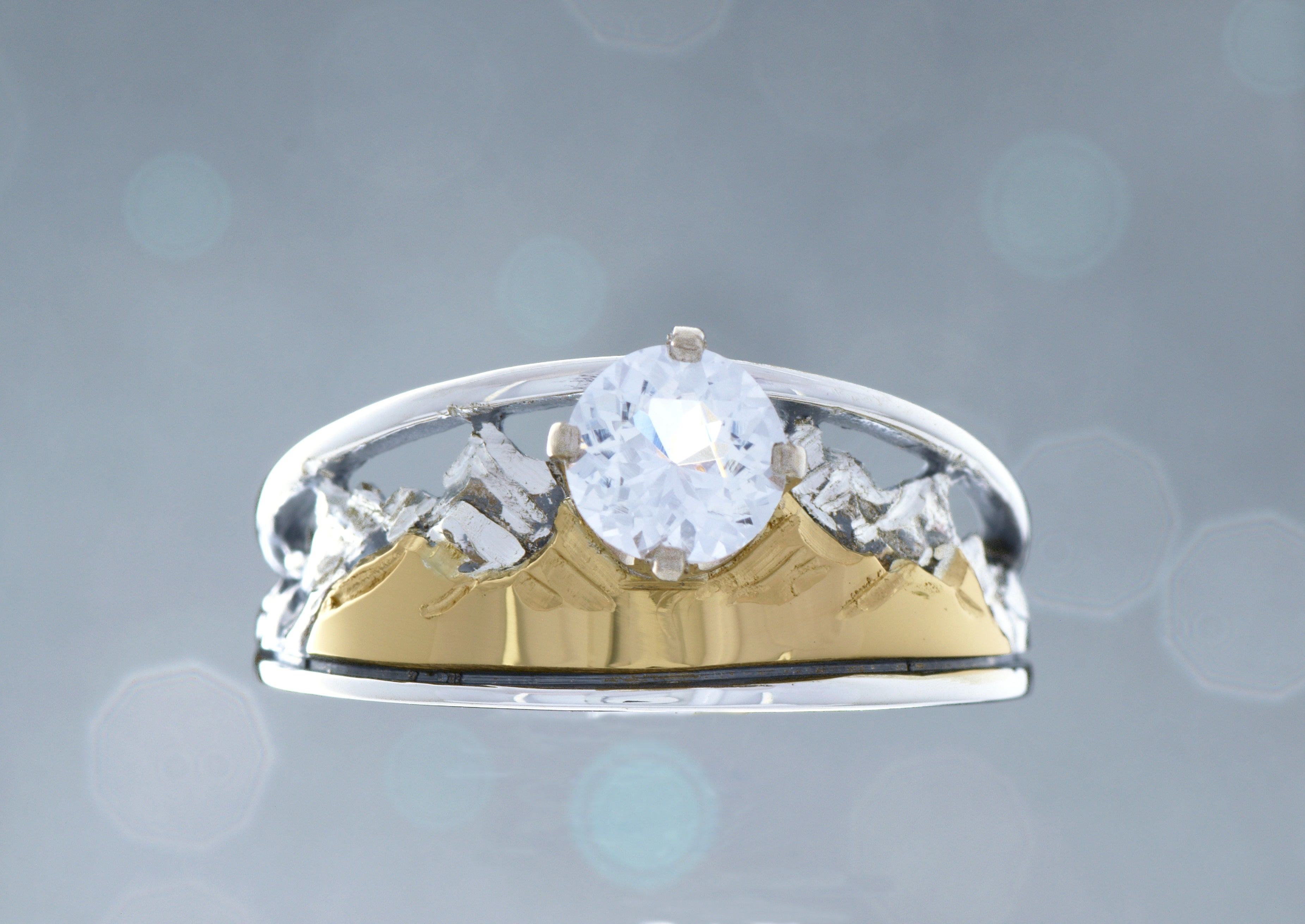 Heart of Colorado Tapered Mountain Ring