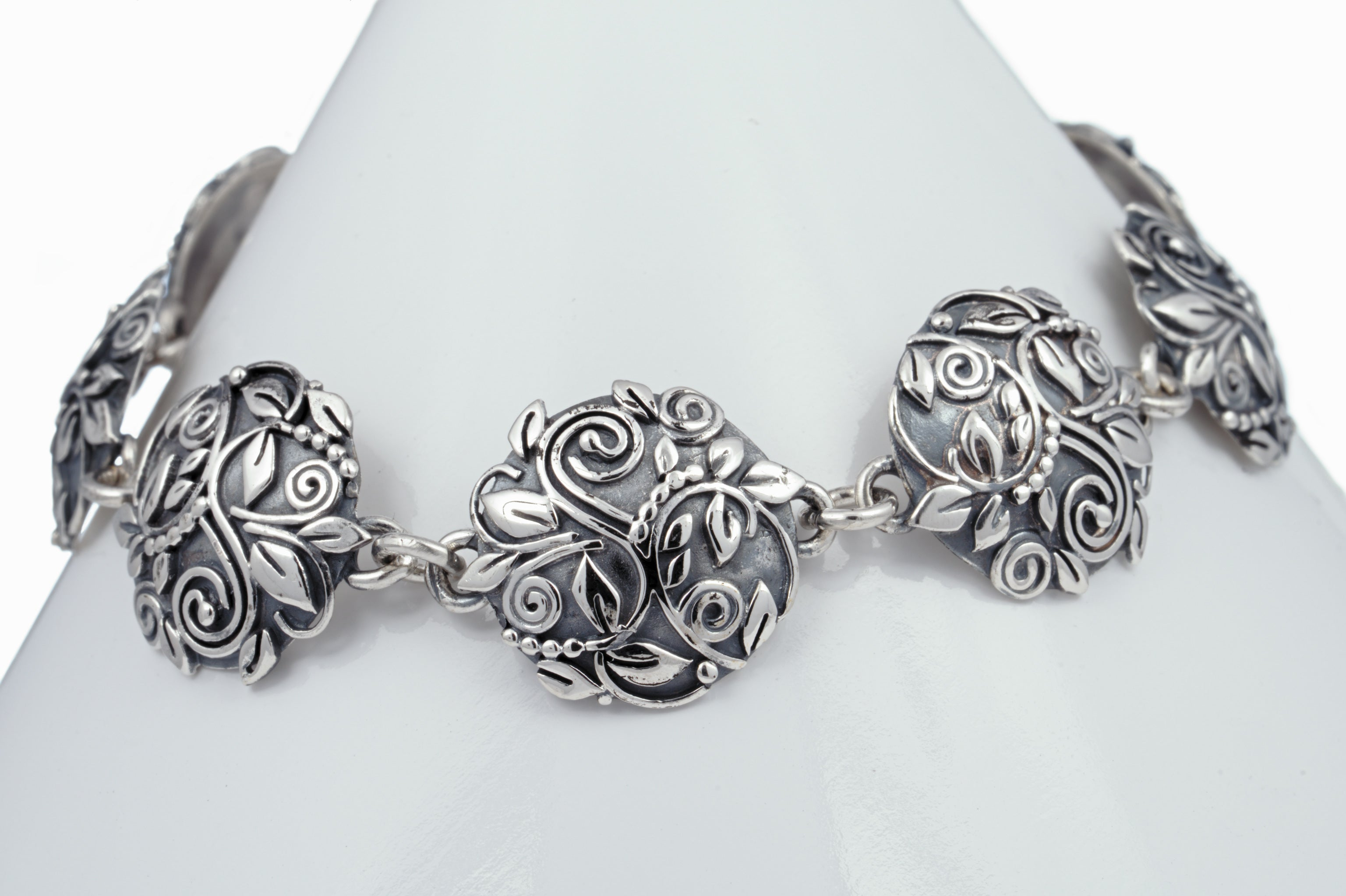 Victorian Concho Link Bracelet Ouray Silversmiths