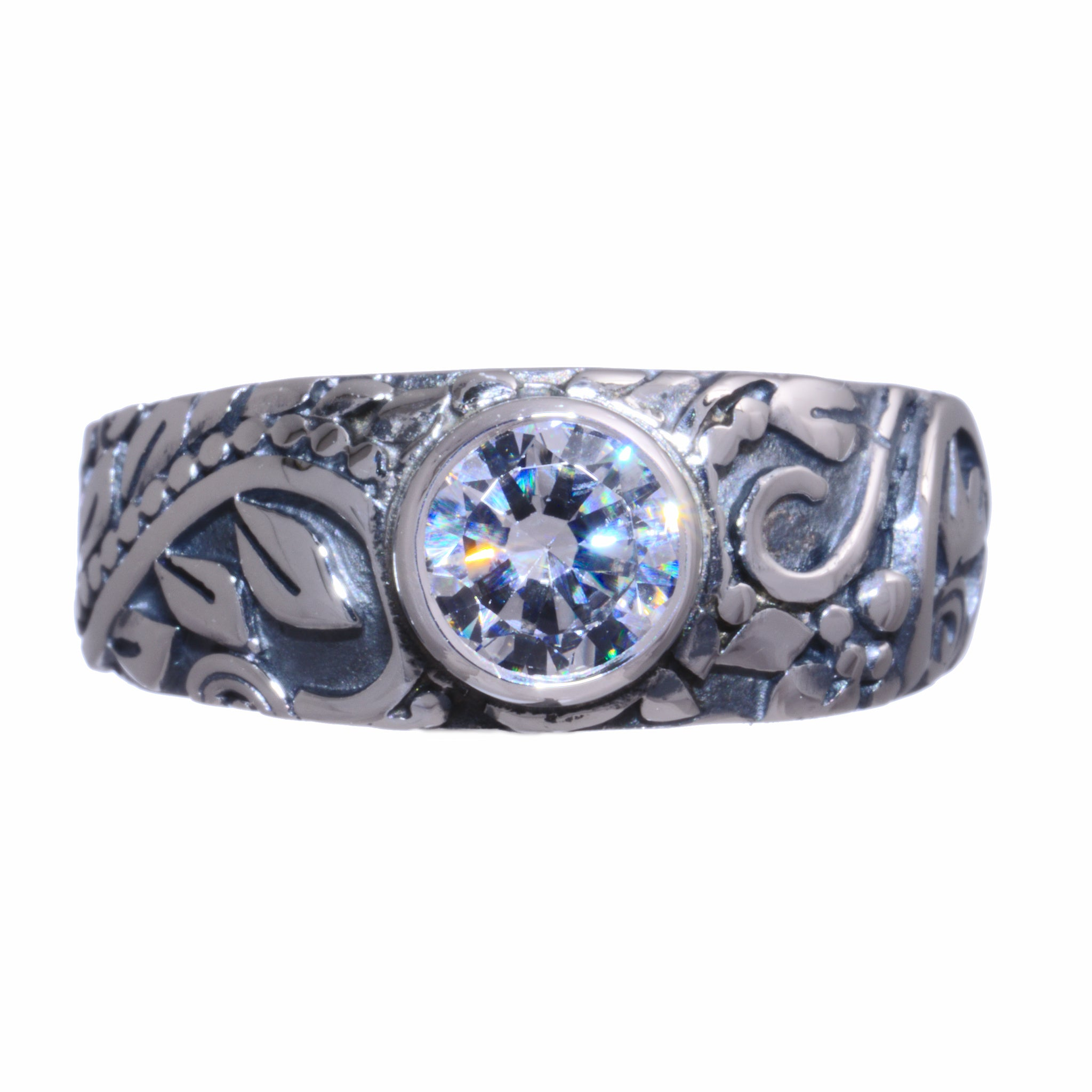 Tapered Victorian Ring with Birthstone