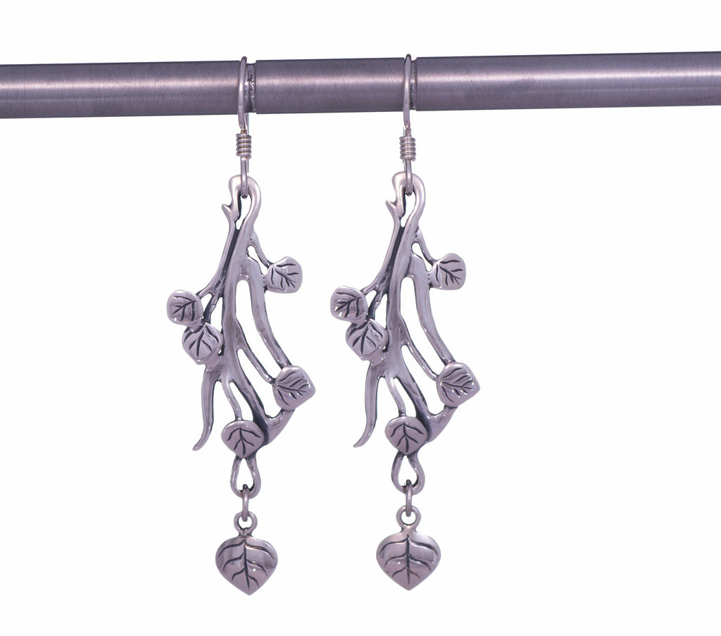 Aspen Collection Branch Drop Earrings Sterling Silver