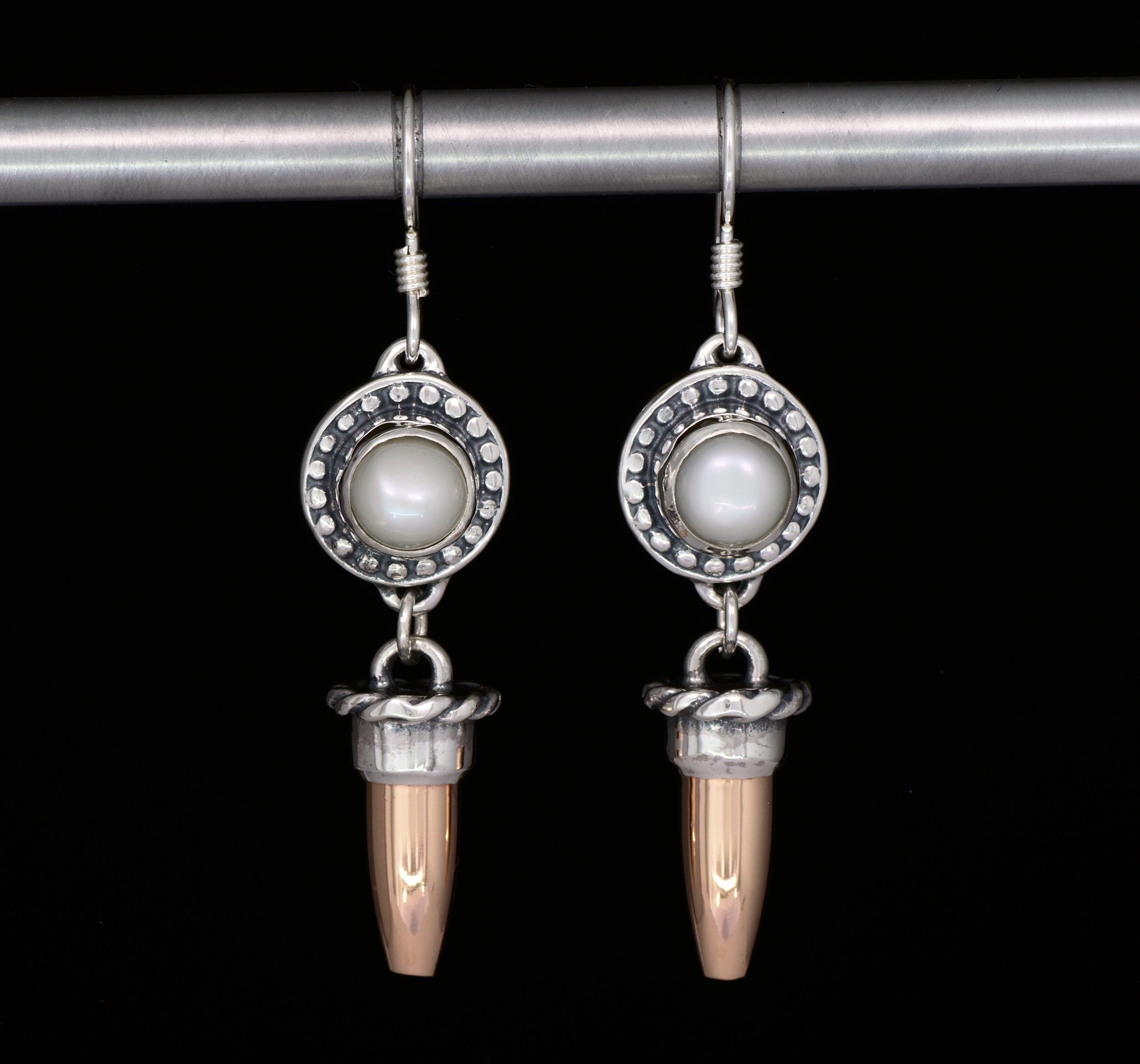 Western Copper Bullet Earrings