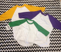 Mardi Gras Raglan - Cotton / Poly