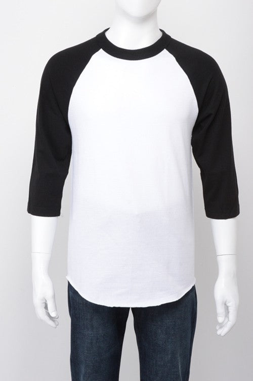 Baseball Raglan - White / Black
