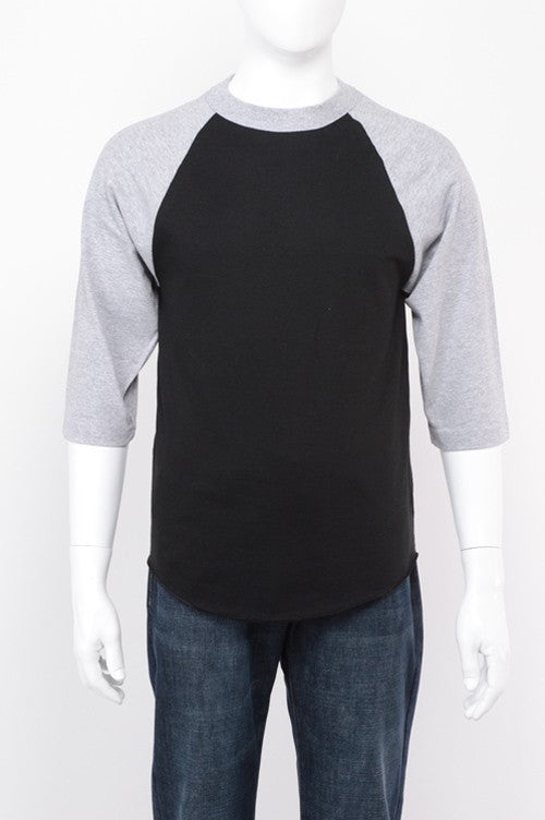 Baseball Raglan - Black/Grey