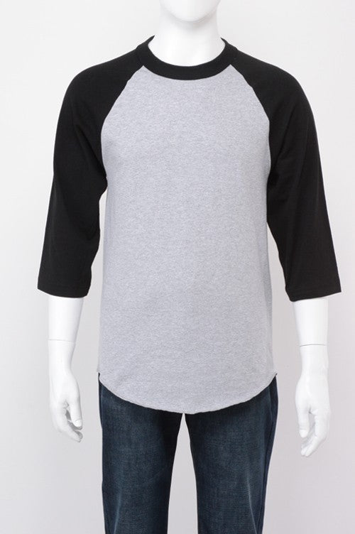 Youth Baseball Raglan -  Grey / Black
