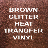 Brown Glitter HTV