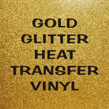 Old Gold Glitter HTV