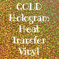 Gold Hologram HTV
