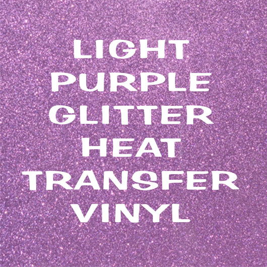 Light Purple Glitter HTV