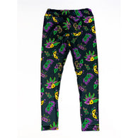 Mardi Gras Mask Leggings