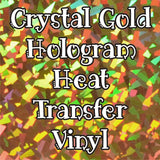 Crystal Gold Hologram HTV Sheet
