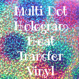Multi Dot Hologram HTV Sheet