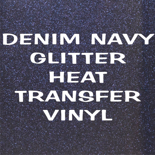 Denim Navy Glitter HTV