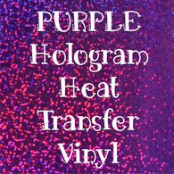 Purple Hologram HTV Sheet