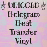 Unicorn Hologram HTV Sheet