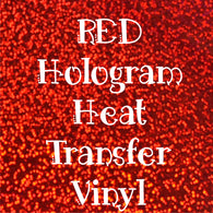 Red Hologram HTV Sheet