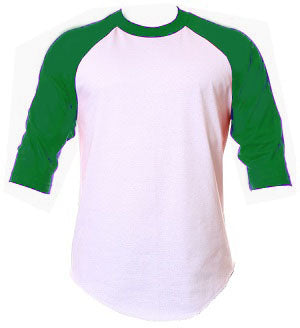 Baseball Raglan - White / Green