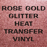 Rose Gold Glitter HTV