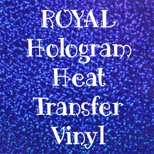 Royal Blue Hologram HTV Sheet