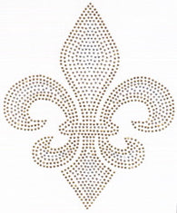 Large Gold and Silver Rhinestone/stud Fleur de Lis