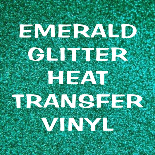 Emerald / Dark Teal Glitter HTV