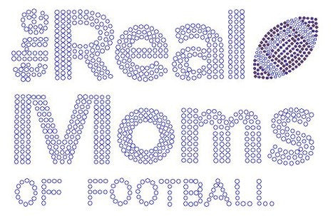 Real Moms of Football Rhinestone Transfer