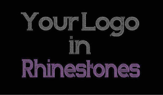 Custom Rhinestone Transfer-Design Deposit ONLY - 3 piece Minimum - Bling, Sport, Dance, Cheer, Logo, Group