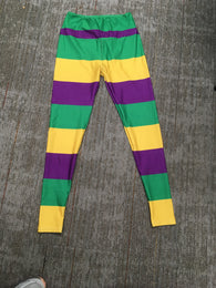 Stripe Mardi Gras Leggings