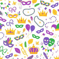 Mardi Gras  Crowns  HTV Sheet