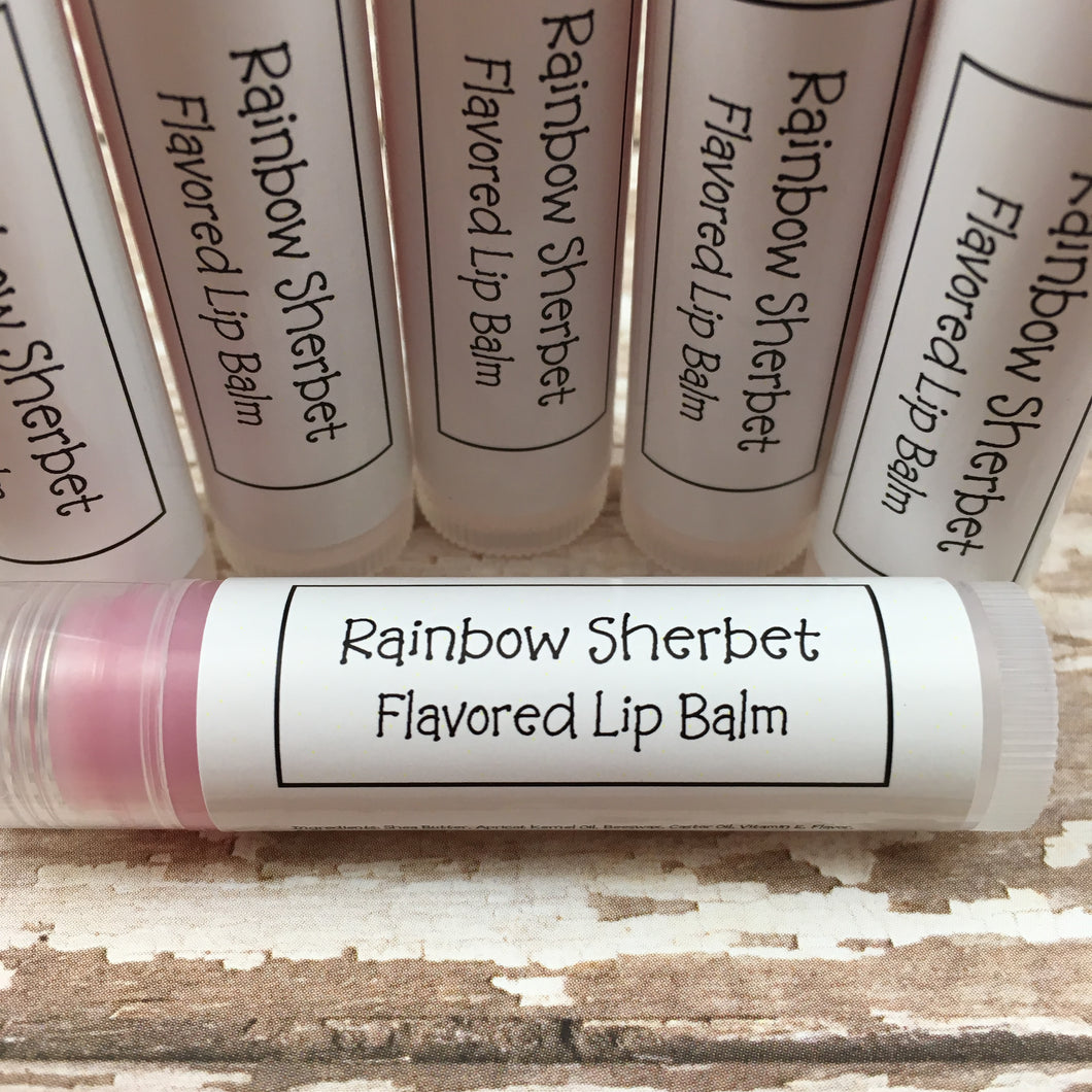 Rainbow Sherbet Flavored Lip Balm