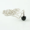 Stilla Noir silver and black onyx necklace