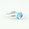 Sterling silver and sky blue topaz ring